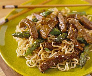 Sesame Beef and Asparagus Stir-Fry
