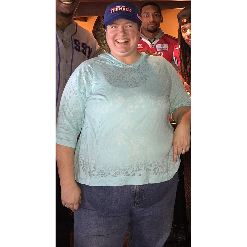 Lori Zold before blue shirt