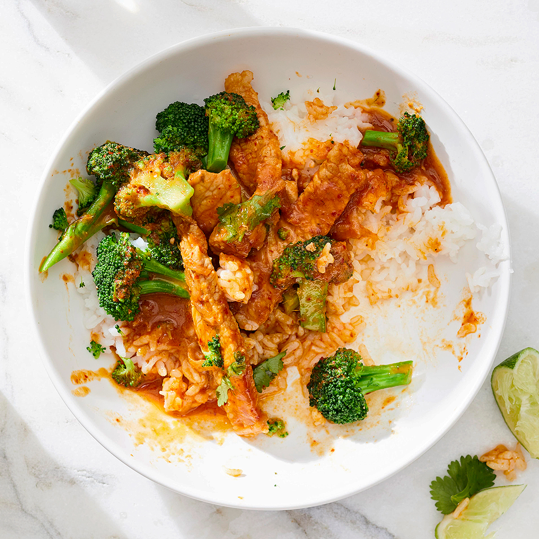 Pork and Broccoli Curry