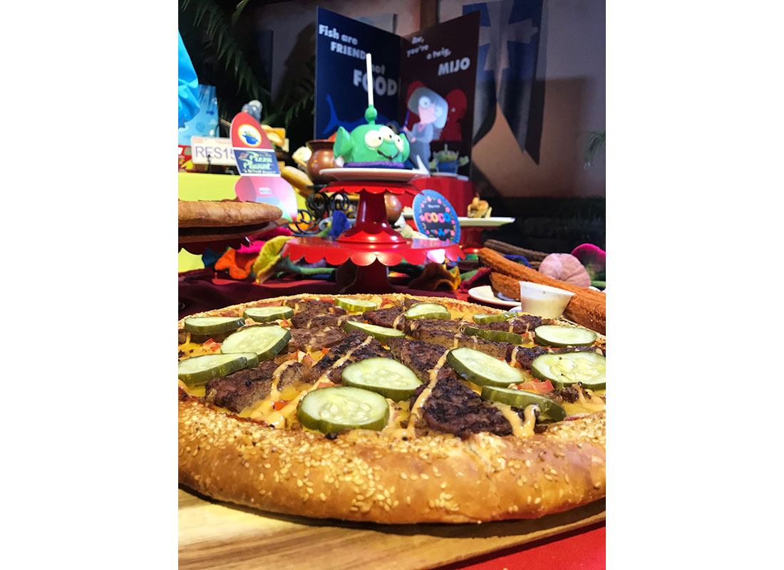 Cheeseburger Pizza at disneyland