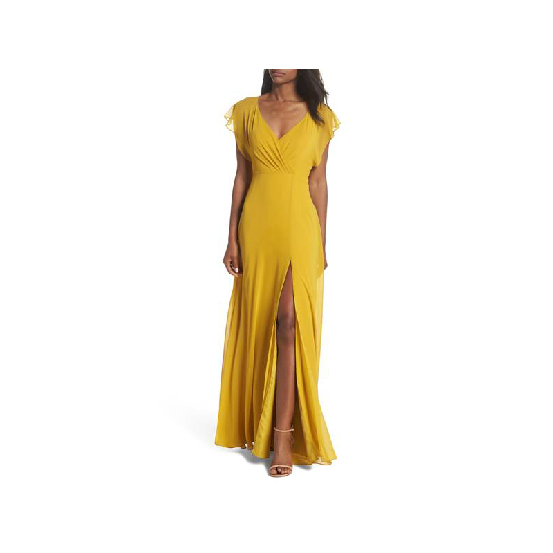 Jenny Yoo yellow prom gown