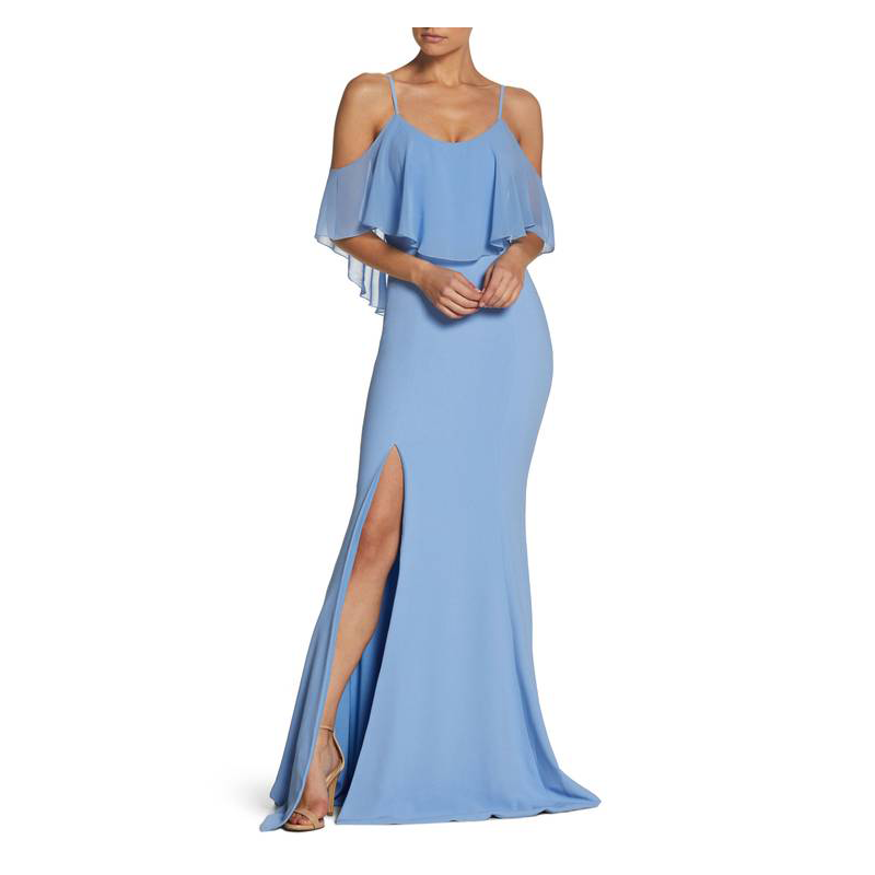 Dress the Population blue prom gown