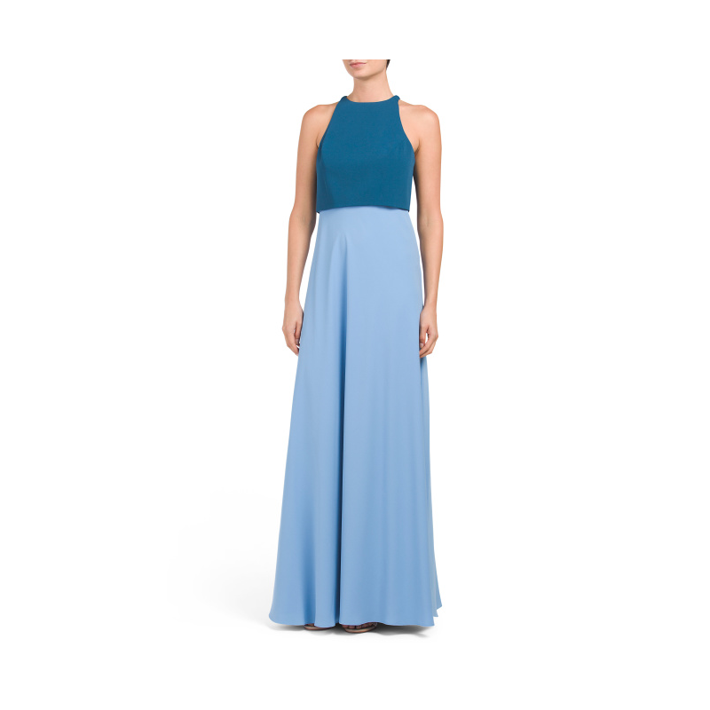 TJ Maxx two tone blue prom gown