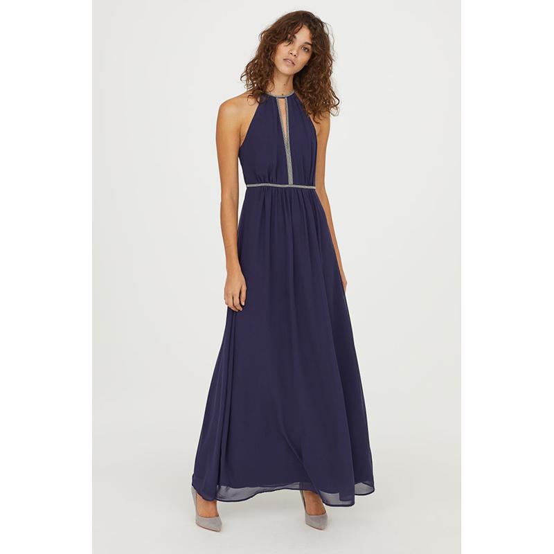 H&M Navy Long Prom Dress