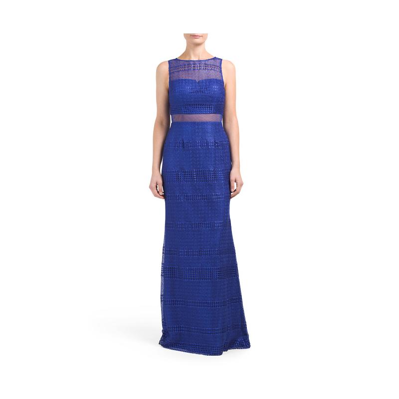 TJ Maxx blue prom gown
