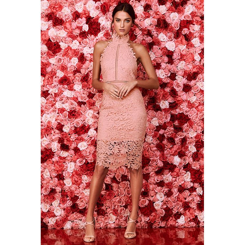 Lulus pink lace prom dress