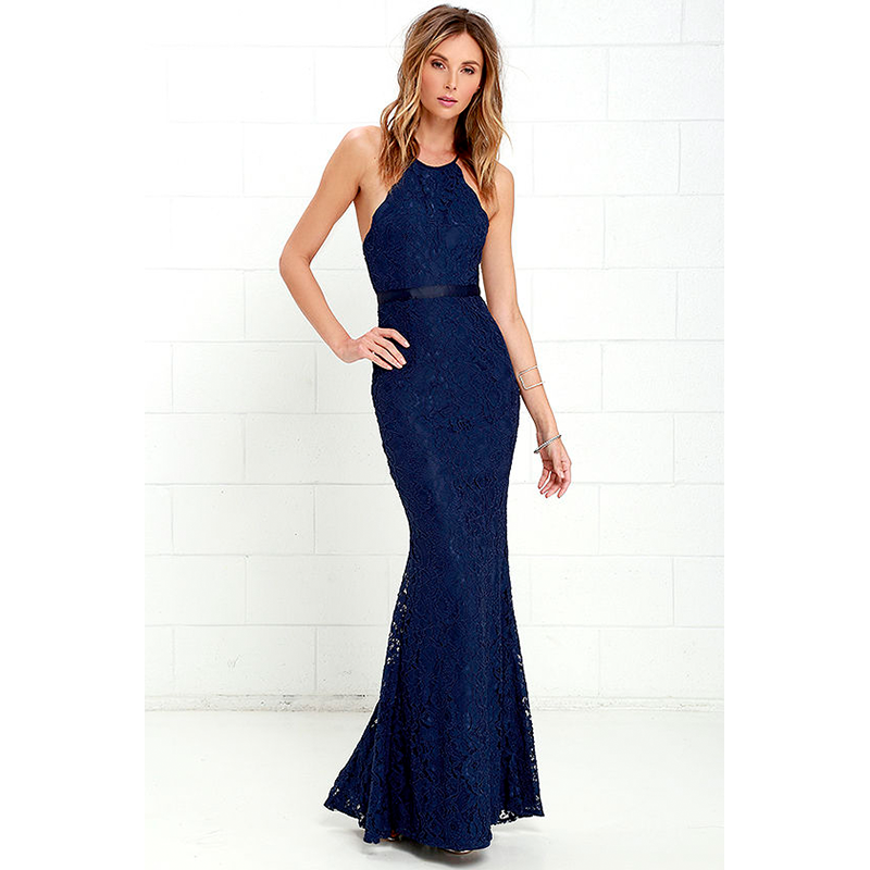 Lulus navy blue prom dress