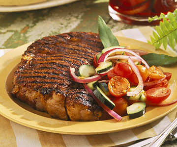 Rib Eye Steak With Spicy Rub
