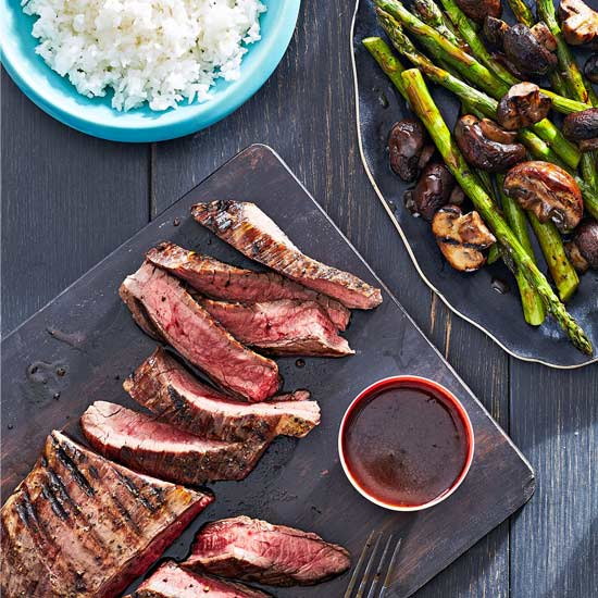 Teriyaki Flank Steak and Vegetables
