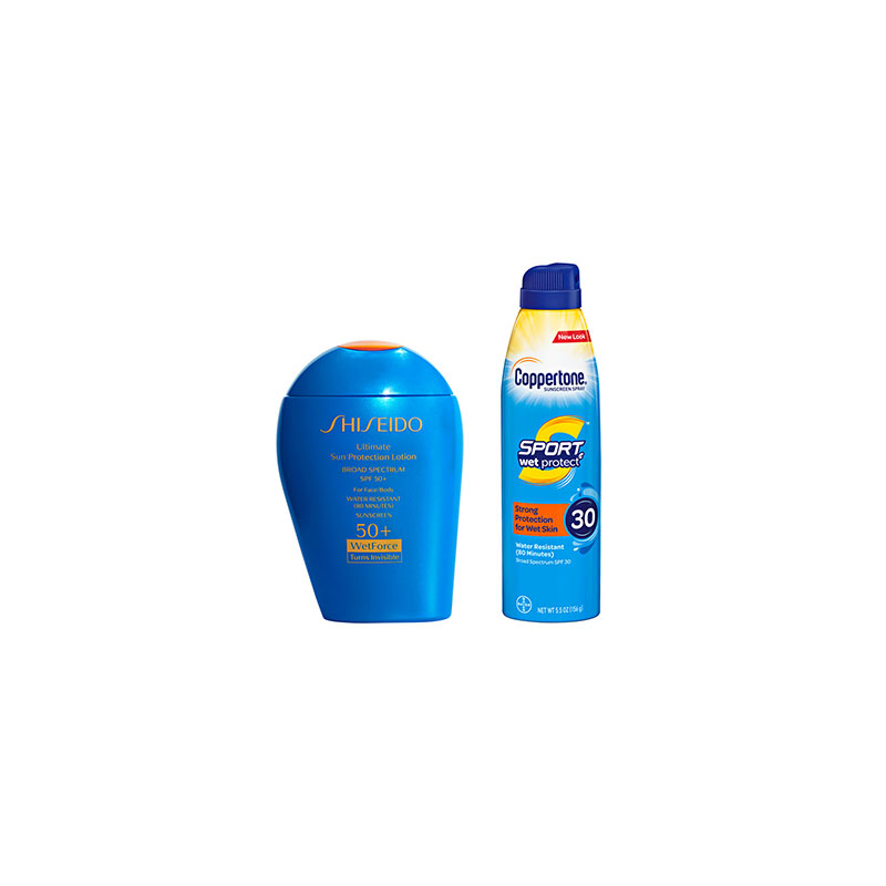 sunscreen products while swimming