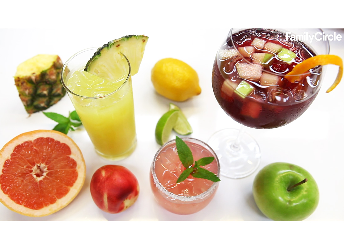 sangria, pineapple lemon refresher, and señorita