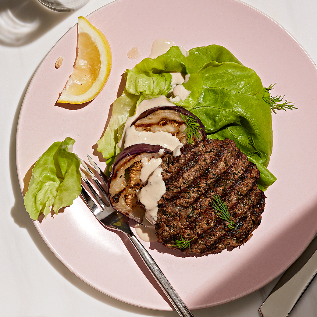 Greek Herb Burgers