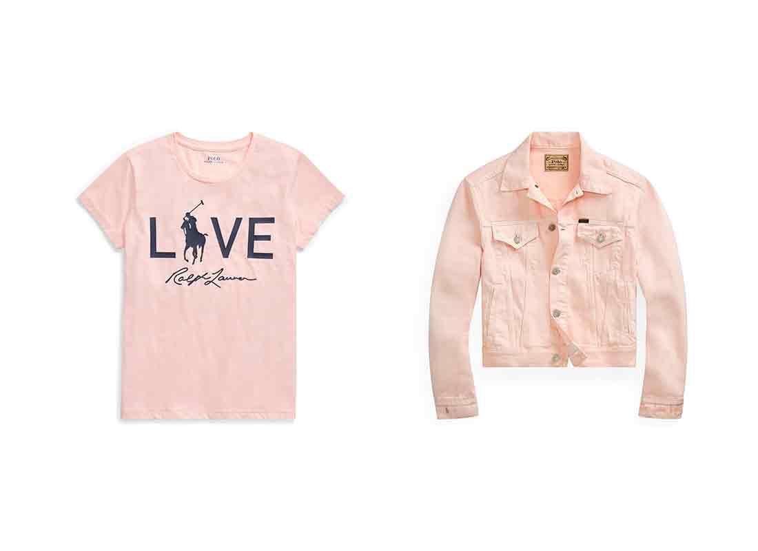 Ralph Lauren Pink Pony Collection t-shirt and denim jacket