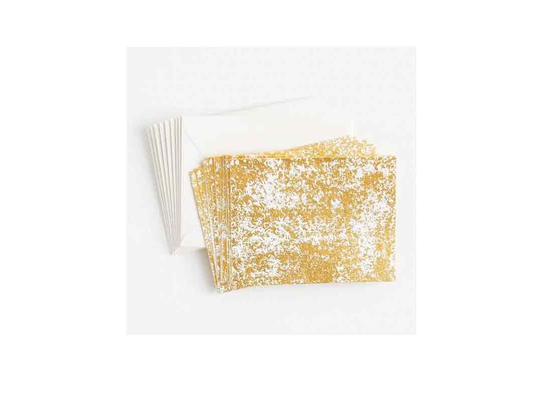 Crushed Gold Fine Paper Stationery Set