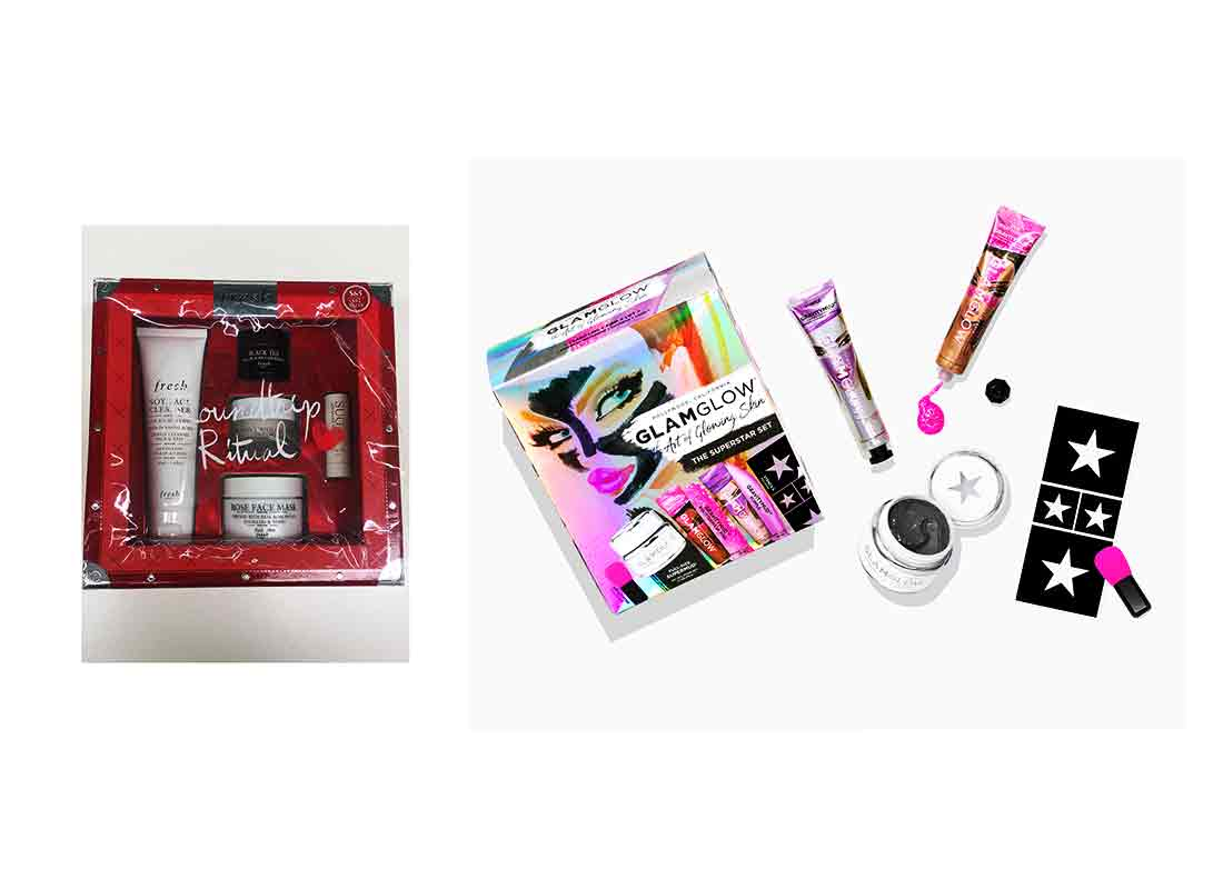 skincare gift sets from fresh and glamglow