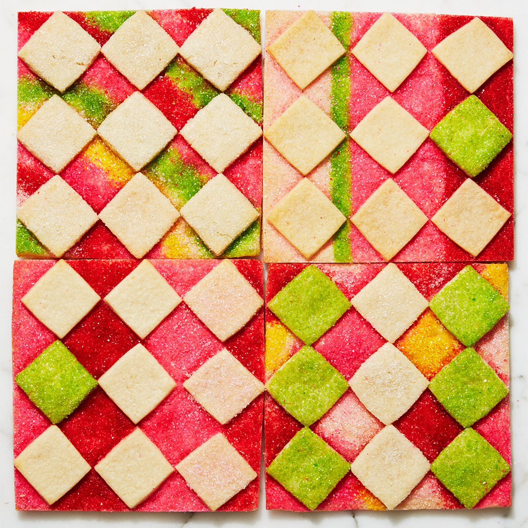 Almond Checkerboards cookies red and green