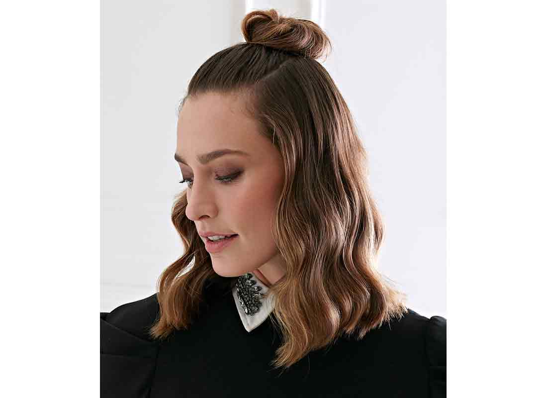 half-up top knot