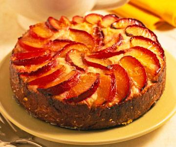 Glazed Plum Cake