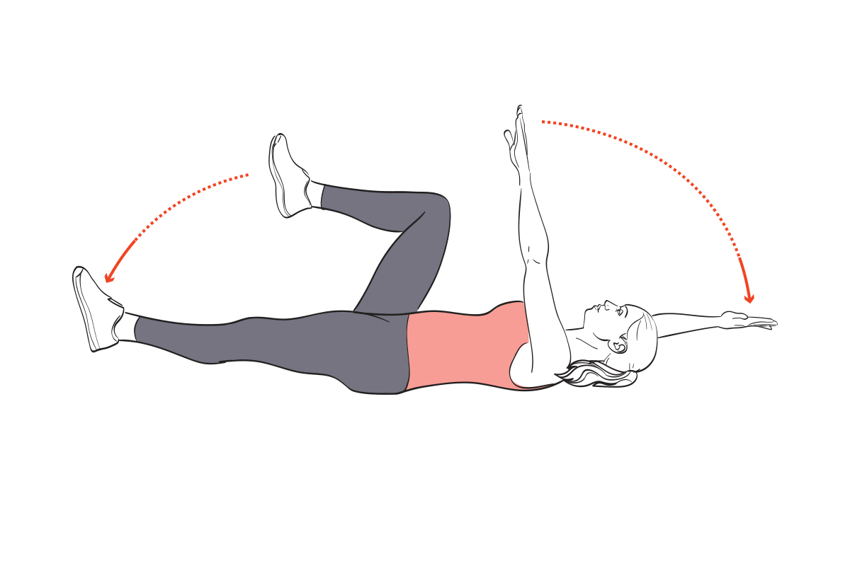 ab workout deadbug workout for flat abs