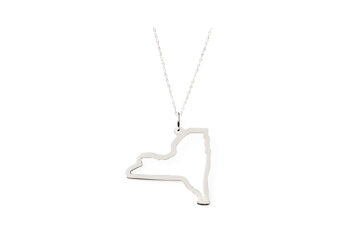 graduation gift idea: necklace in the shape of the student's home state