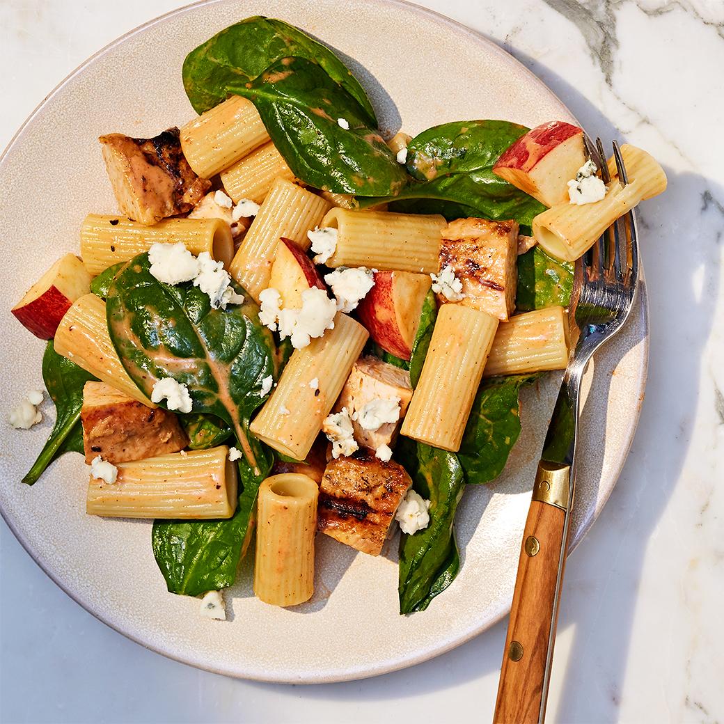 barbecue chicken pasta salad