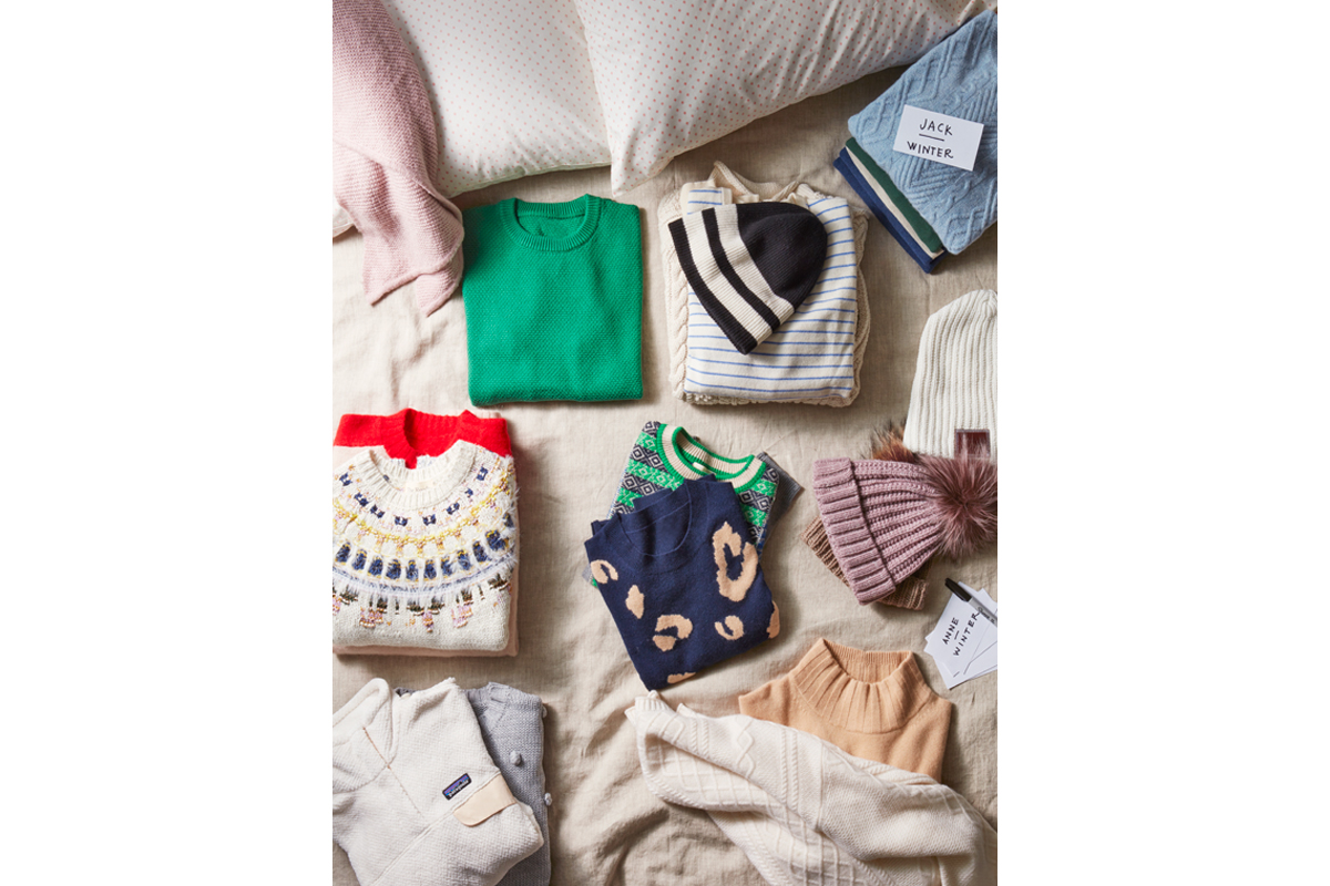 swap out winter clothes for spring clothes