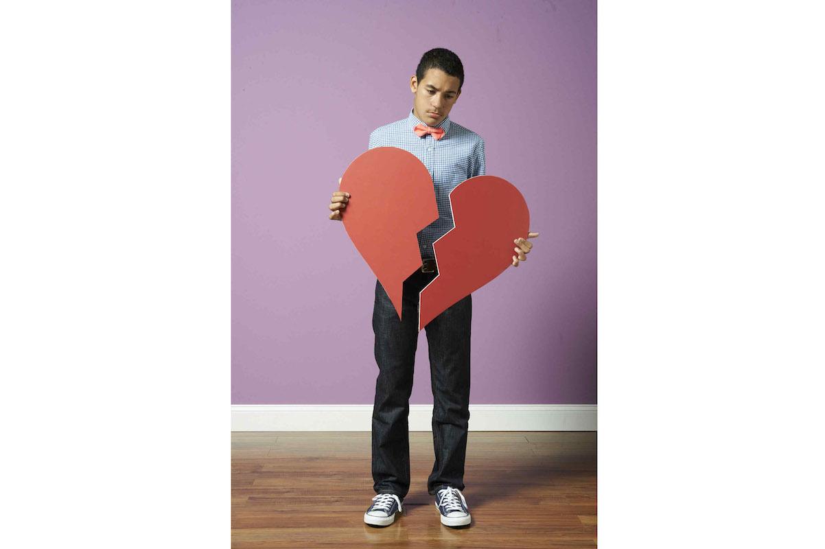 Boy teen heartbreak