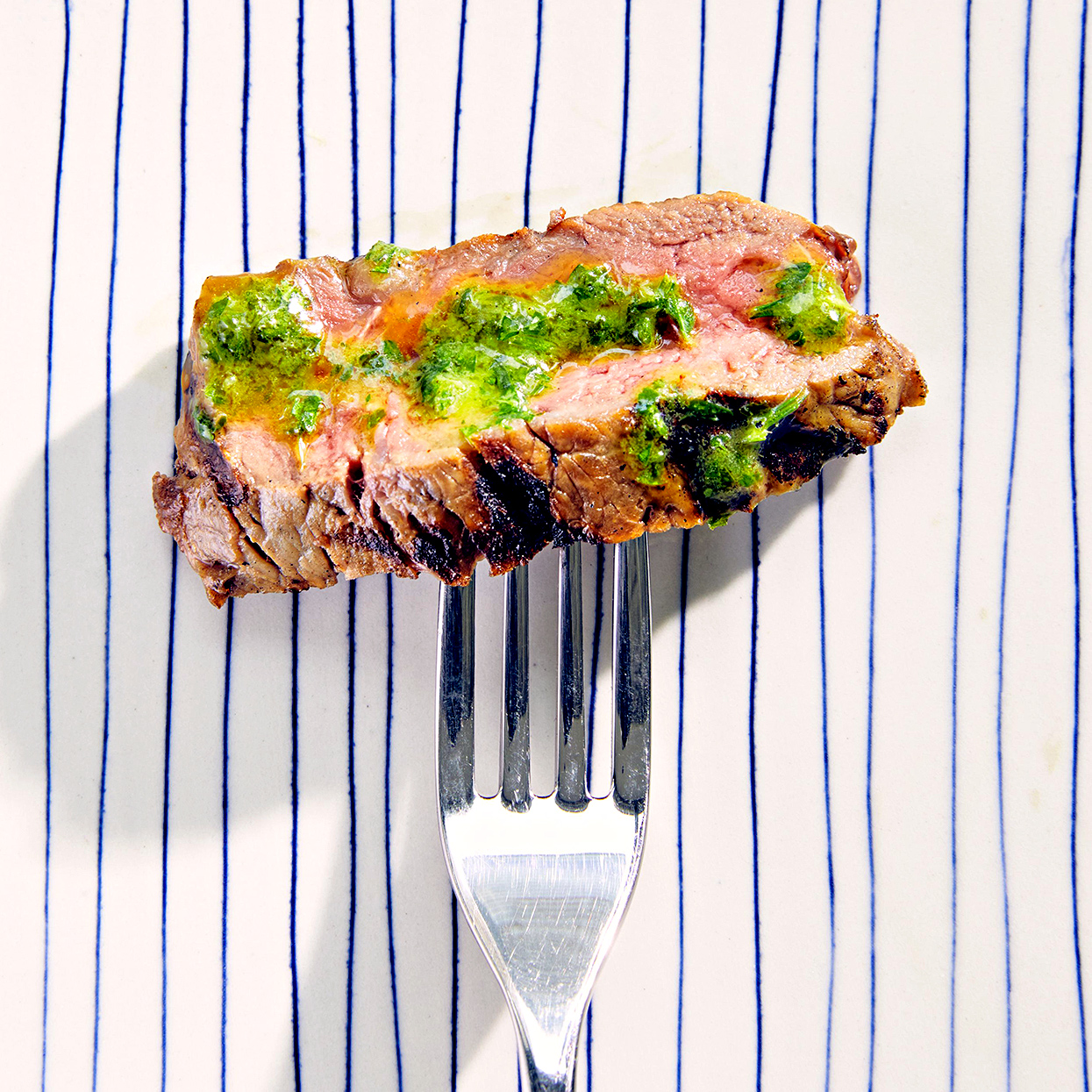 flank steak with chimichurri butter