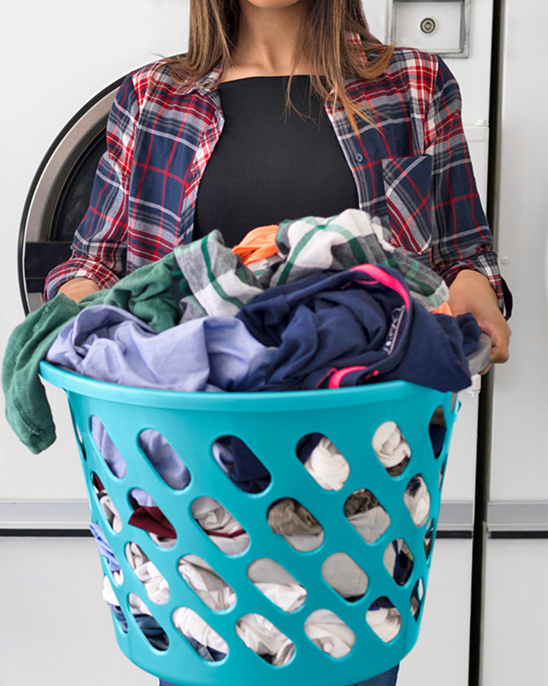 laundry basket filled with clothes 2019