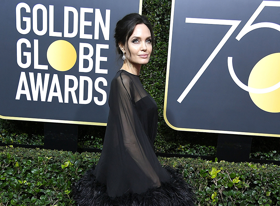 Angelina Jolie Golden Globes 2018