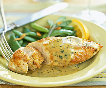 Chicken With Orange-Sage Sauce