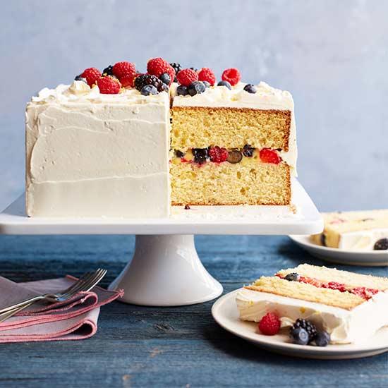 Lemon-Berry Layered Cake