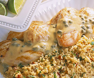 Chicken Breasts With Mustard-Caper Sauce