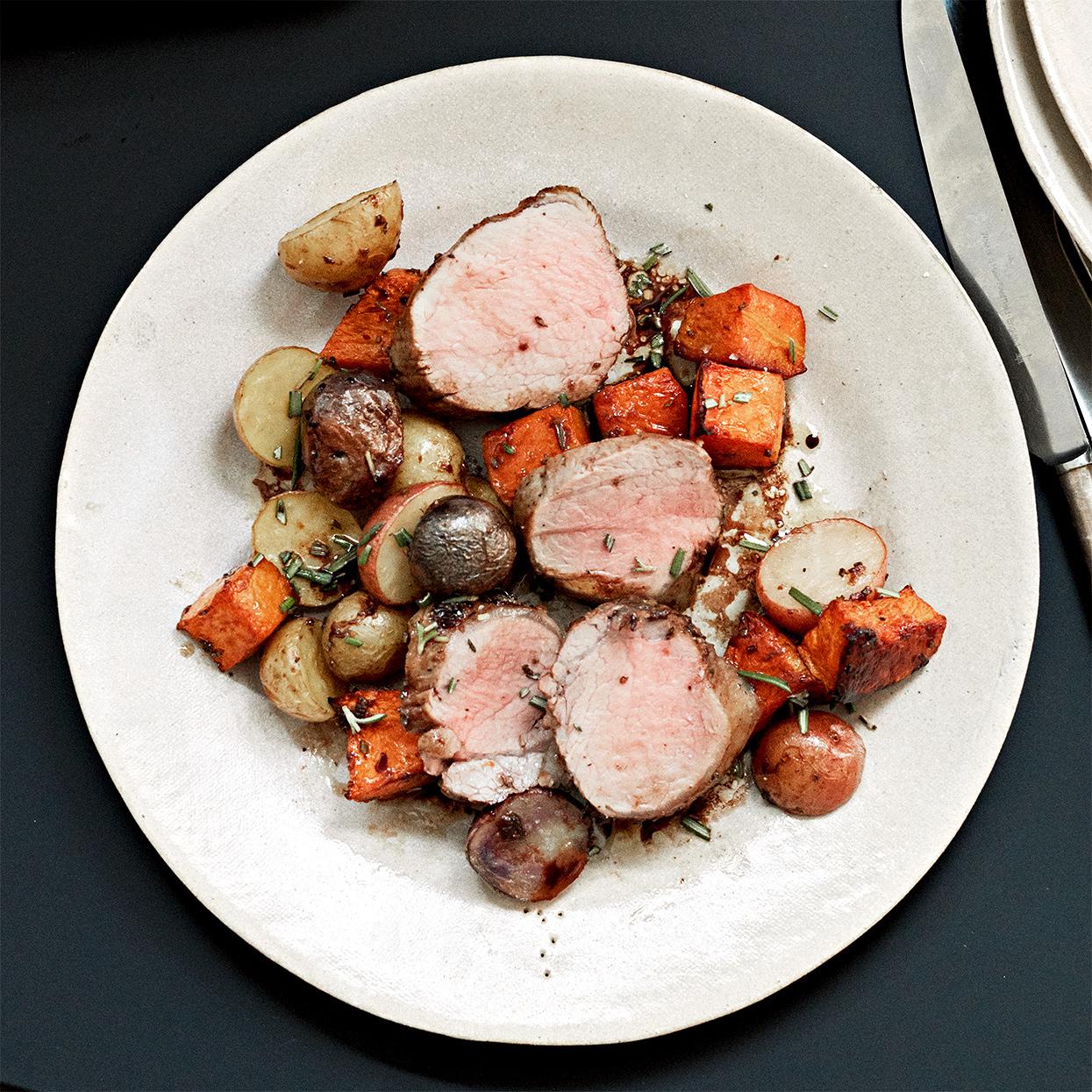Sheet Pan Pork, Butternut Squash and Potato