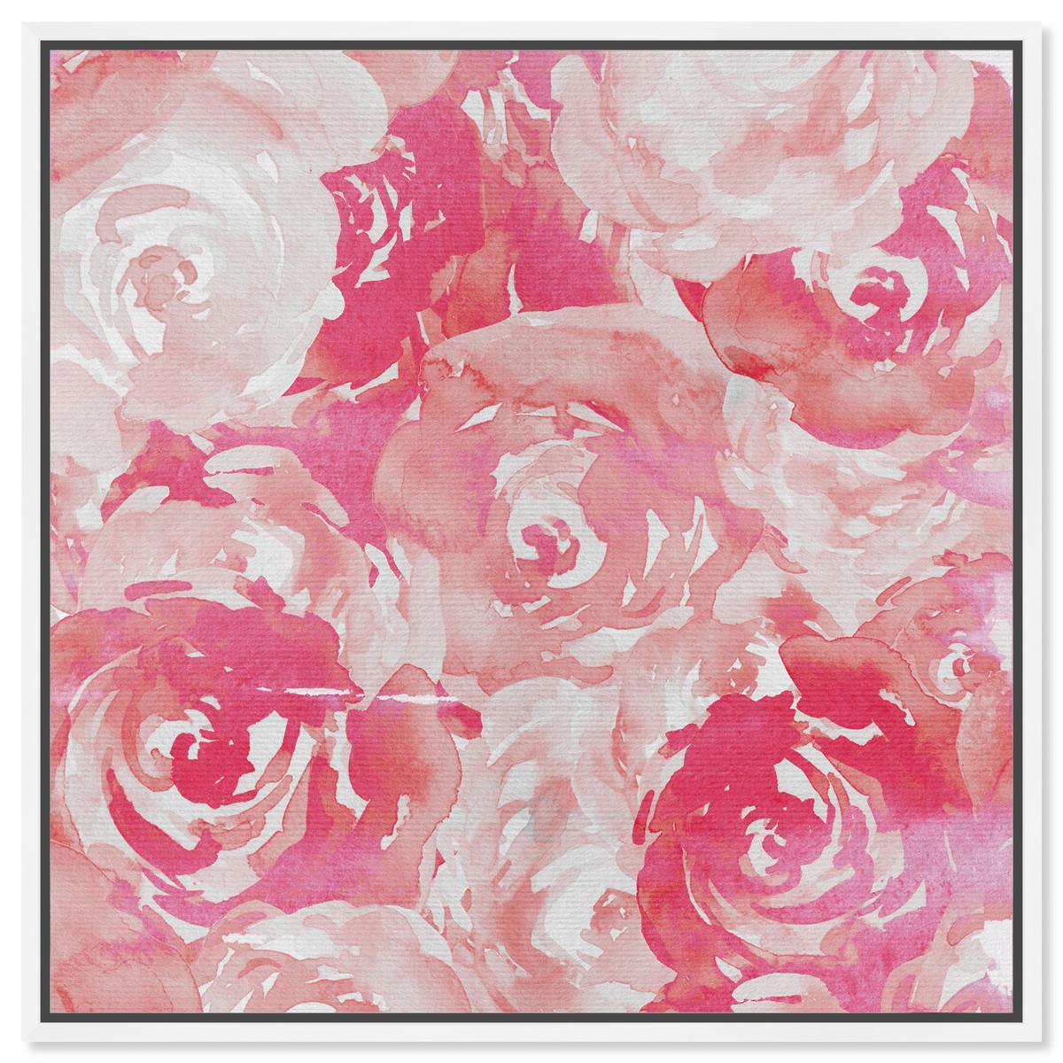 pink roses wall art
