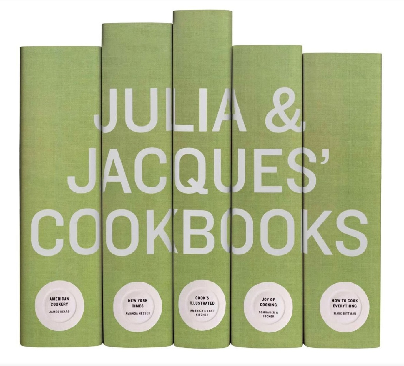 2019 holiday gift guide Personalized Cookbook Collection Julia and Jacques Cookbooks