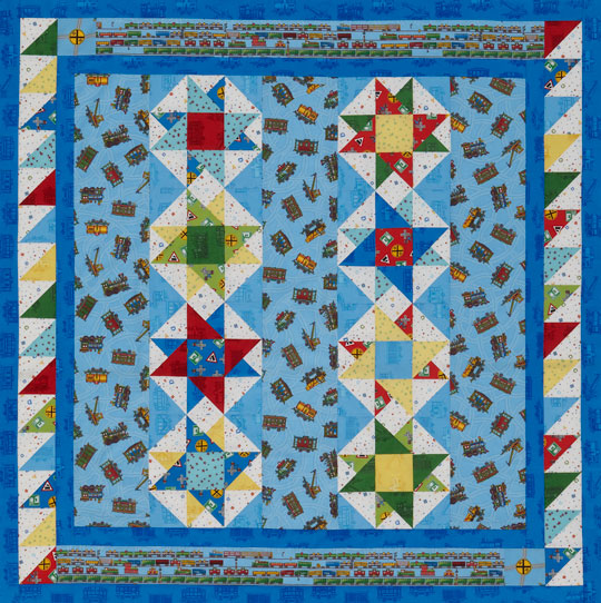 Simple Stars Baby Quilt