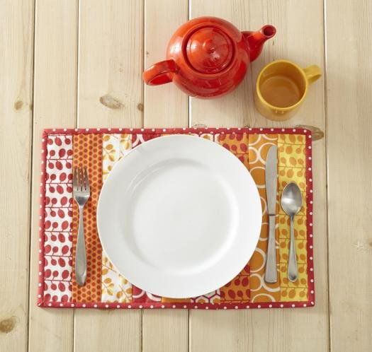 Quilt-As-You-Go Place Mat Pattern