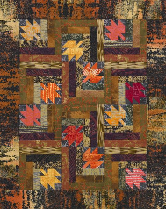 Scattered Leaves Color Option