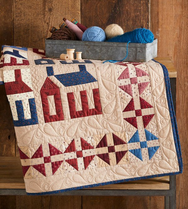 Top Wall Quilt: Americana Home
