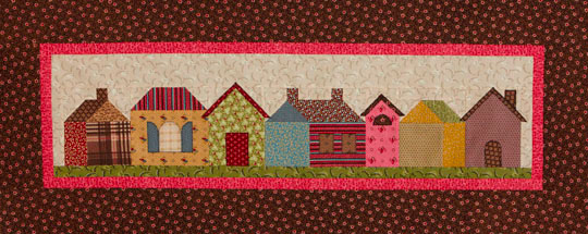 Row Houses Wall Quilt