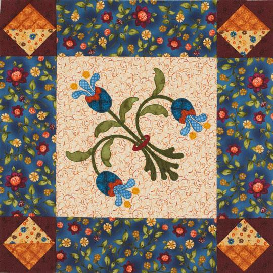 Blue Bouquet Table Topper