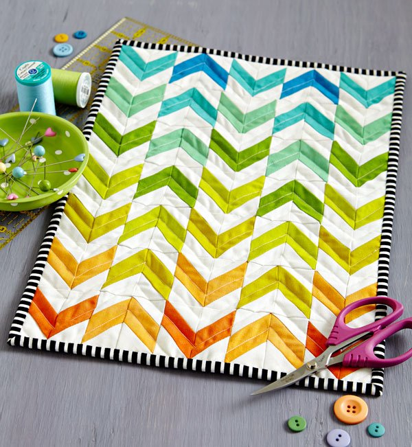 Rainbow Chevron Mini