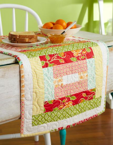 Strippy and Bright Table Runner
