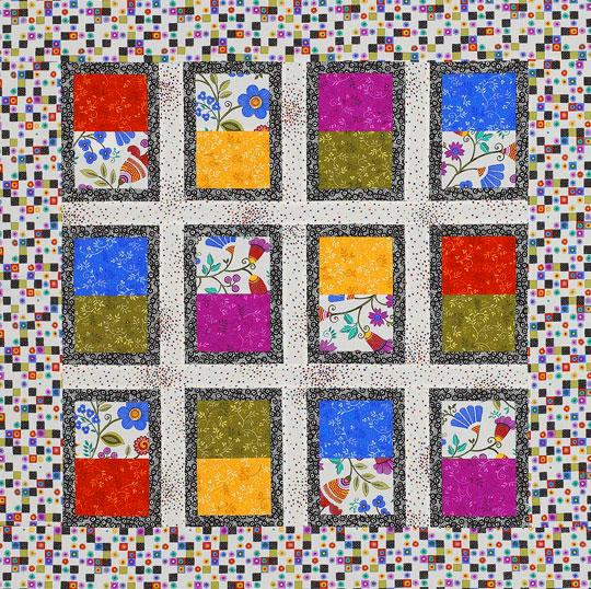 Bright Rectangles Wall Hanging