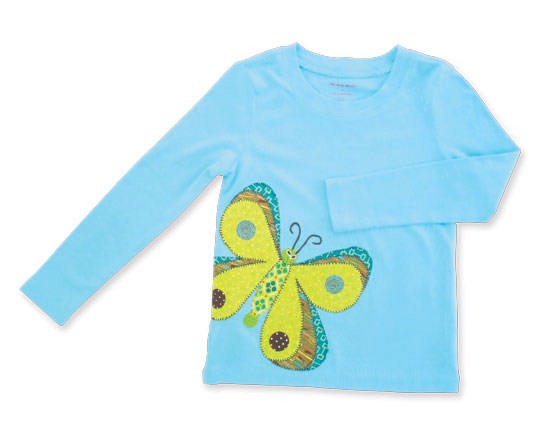 Butterfly Applique T-Shirt