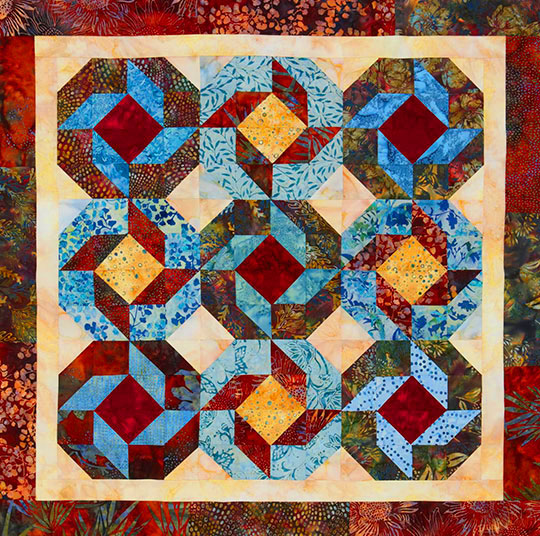 Batik Strips and Squares