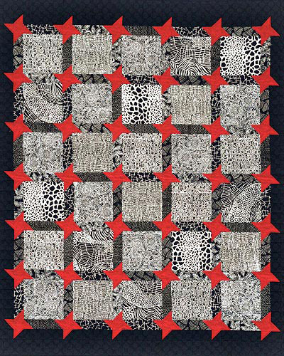 Striking Black-and-White Quilt
