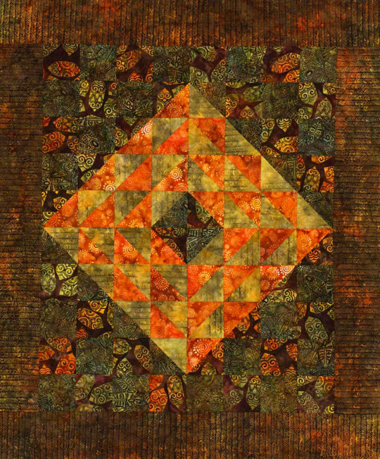 Wild Triangle-Squares Wall Hanging