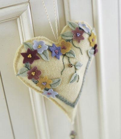 Wool Heart Ornament